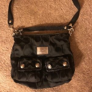 Black Coach Poppy Purse